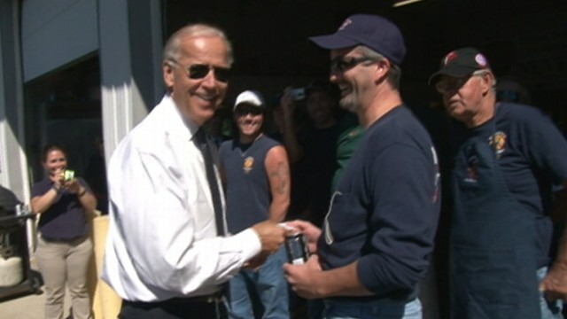"""VIDEO: VP makes good on """"challenge coin""""; tells Shanksville, Pa., firefighter: """"This is no bulls--t."""""""