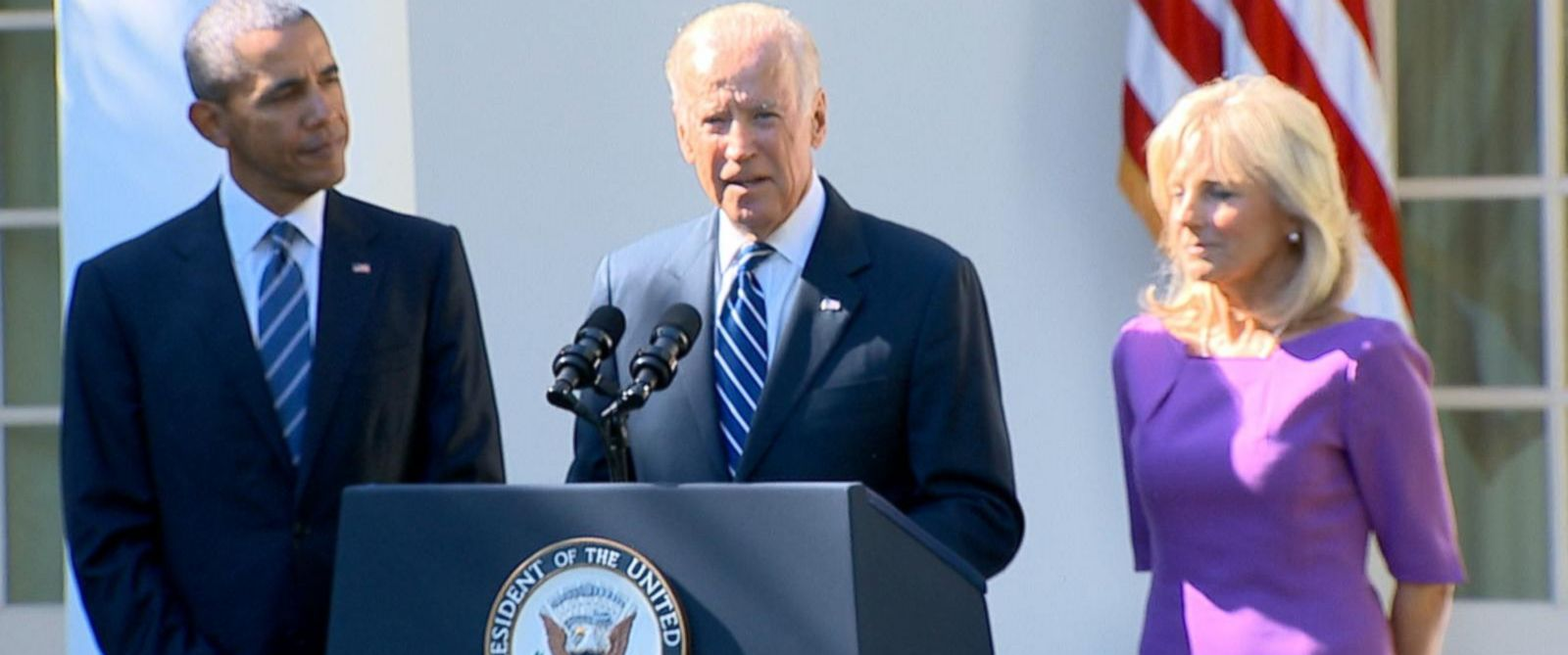 PHOTO: Vice President Joe Biden announced from the Rose Garden he will not run for the presidential election.