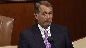 PHOTO Speaker Boehner opens the House and make a statement on the resolution honoring Rep. Giffords and mourning the lives lost in Tucson
