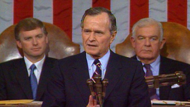 VIDEO: State of the Union 1990: Bush addresses immigration, economy and freedom.