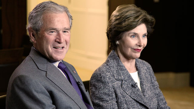 abc bush diane 2 nt 130424 wmain ABCs Jonathan Karl to Speak with George W. Bush and Laura Bush in Their Only Broadcast TV Interview