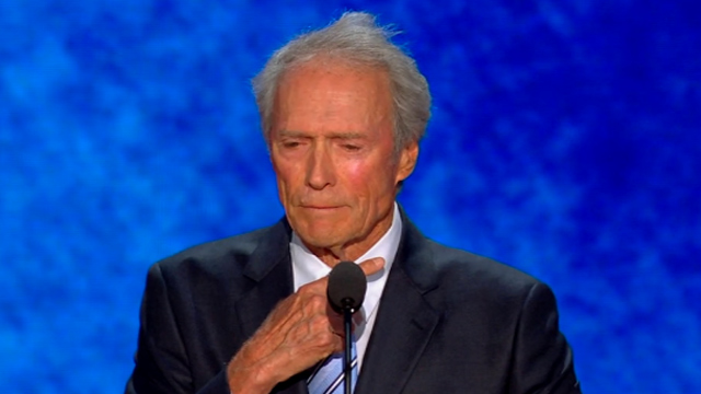 PHOTO: Clint Eastwood speaks at the Republican National Convention in Tampa, Fl., Aug. 30, 2012.