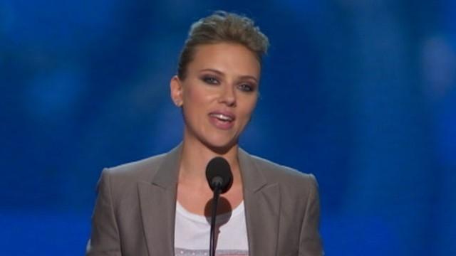 VIDEO: Scarlett Johansson speaks at DNC.