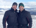 ABC News analyst Matthew Dowd is seen on a mountaintop in Montana with his brother Mike Dowd.