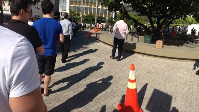 PHOTO: ABC News produce Seni Tienabeso, Jr. went to vote in Miami Beach, Nov. 2, 2012.