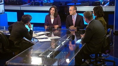PHOTO: ABC News Global Affairs Anchor Christiane Amanpour, Former Romney Campaign Senior Adviser and Foreign Policy Initiative Co-founder Dan Senor, The Atlantic National Correspondent Jeffrey Goldberg, and Time Magazine Assistant Managing Editor Rana For