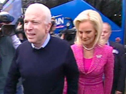 A picture of John and Cindy McCain.