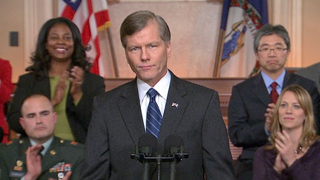 VIDEO: Virginia Gov. Bob McDonnell says federal government is trying to do too much.