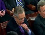 Video of Senator Harry Reid yawning during Obama's State of the Union.