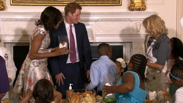 VIDEO: British royal popped in to Mothers Day tea honoring military moms.