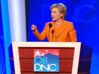 pic of hillary clinton and the democratic national convention in denver, colorado