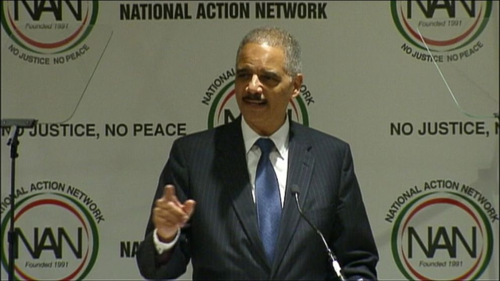VIDEO: Eric HOlder criticizes Congress during speech to the National Action Network