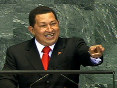 Video of Hugo Chavez addressing the General Assembly saying Obama brings hope.