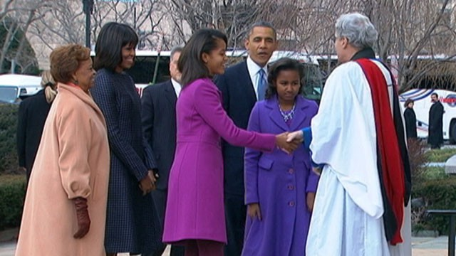 VIDEO: Obama family attends inaugural service at St. John's Episcopal Church.