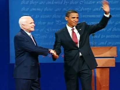 pic of john mccain and barack obama shaking hands at debate