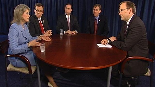 PHOTO:Jonathan Karl sits down with four freshmen members of Congress.