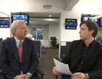 """PHOTO: Former Bush deputy chief of staff Karl Rove answers viewers Facebook questions on """"This Week."""""""