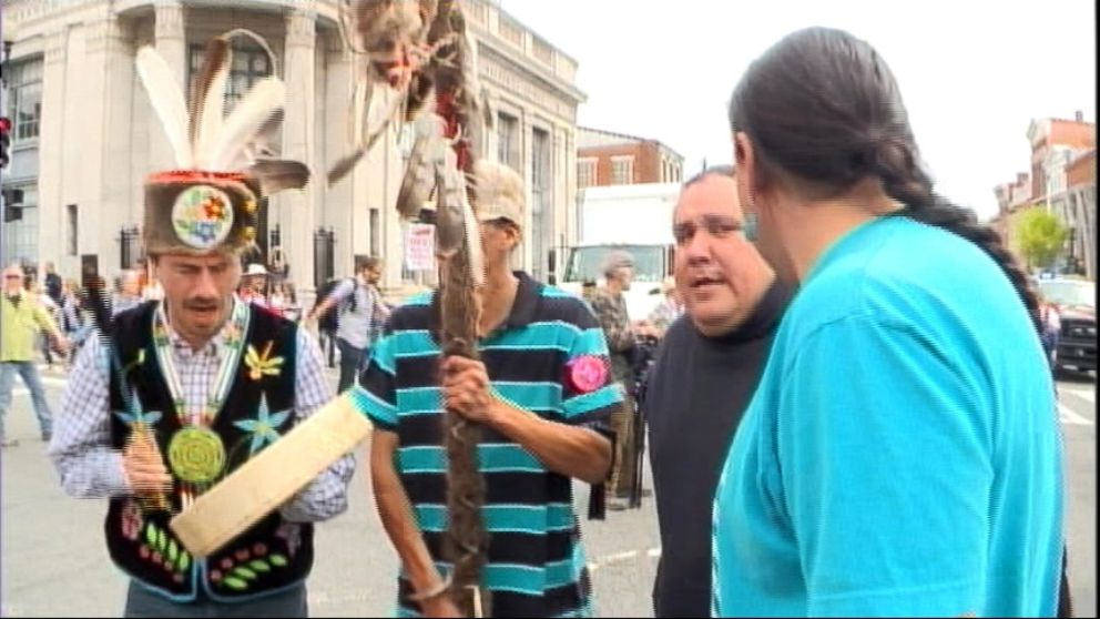 VIDEO: The alliance of Native Americans, ranchers and farmers protest the Keystone XL pipeline in Washington, D.C.