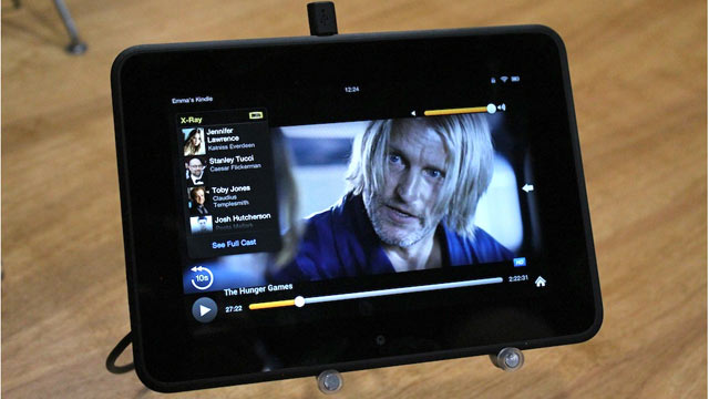 PHOTO: Amazons X Ray for Movies shown on the Kindle Fire HD.