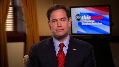 PHOTO: Senator Marco Rubio (R) Florida on 'This Week'