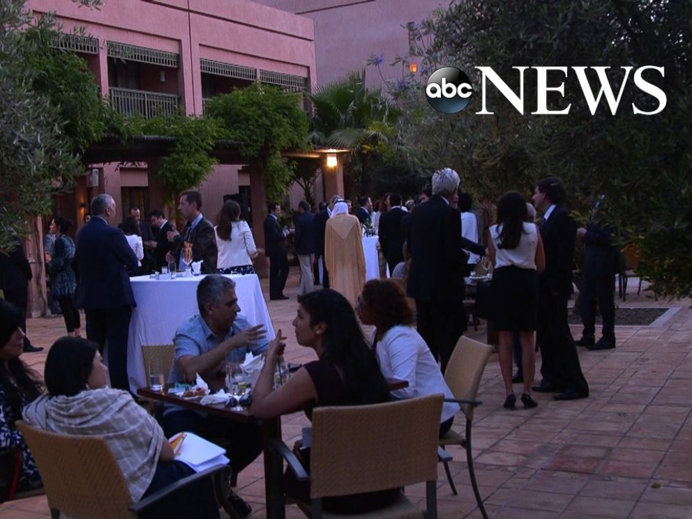 PHOTO: Foreign dignitaries attended the opening reception at the Clinton Global Initiative in Morocco.
