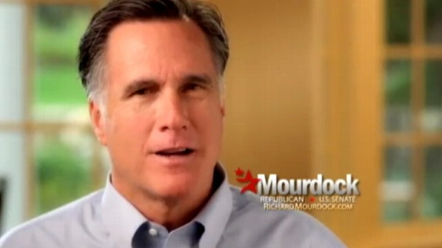 VIDEO: Indiana Republican Senate candidate received an endorsement from Romney in TV ad.