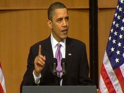 Video of President Barack Obama signing student loan overhaul legislation.
