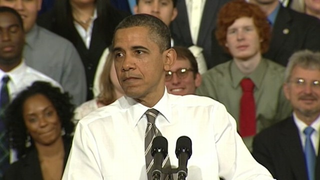 """VIDEO: The president accuses Republican rivals of being """"stuck in the past."""""""