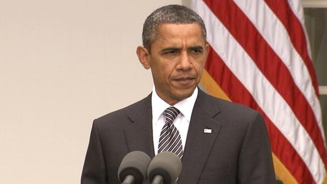 PHOTO:US President Barack Obama delivers remarks on Gadhafis death, Oct. 2011.