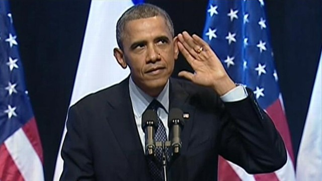VIDEO: President Obama jokes about being heckled during speech in Israel.