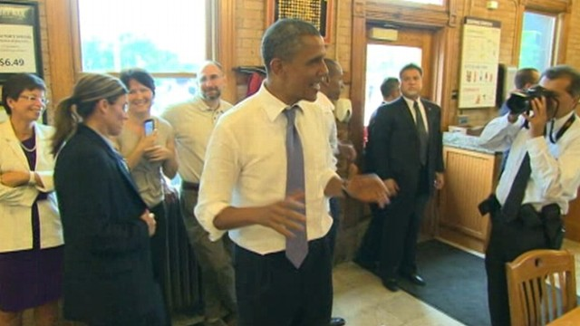 "VIDEO: ""I could not do this in front of a polling place,"" says president."