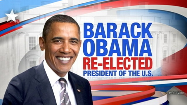 VIDEO: The president is projected to win Ohio and have four more years in office.