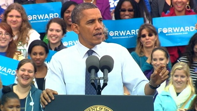 VIDEO: Democrat rallies supporters at George Mason University in Virginia.