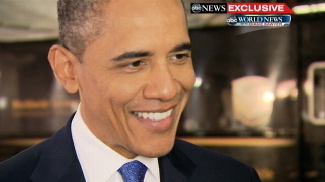 VIDEO: POTUS tells Diane Sawyer he cant make predictions when Bears are not involved.