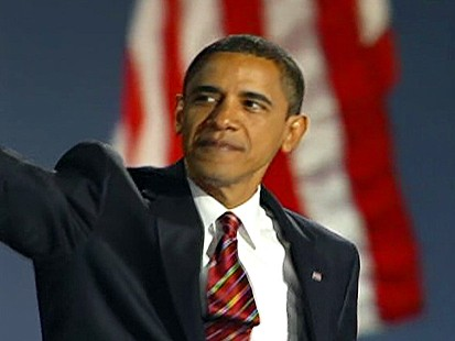 pic of barack obama in chicago on november 4