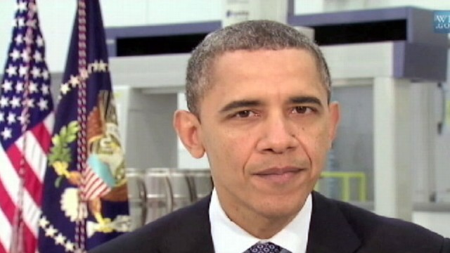 VIDEO: The president talks about manufacturing and combating the rise in gas prices.