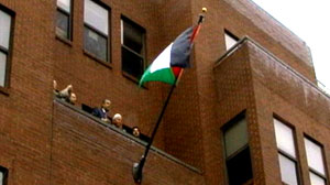 PHOTO Palestinian flag flies for first time officially at U.S. diplomatic offices.