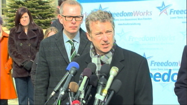 "VIDEO: Sen. Rand Paul says hes suing the president ""on behalf of everybody who has a phone."""