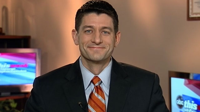 """PHOTO:Chairman of the House Budget Committee Paul Ryan, R-Wisconsin, on """"This Week"""""""