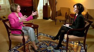 PHOTO House Speaker Nancy Pelosi sits down for a network exclusive interview with ABCs Elizabeth Vargas.