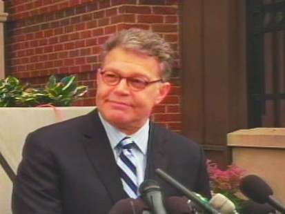 ABC News video of Al Franken victory speech.