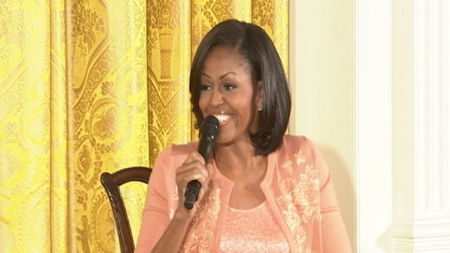VIDEO: Michelle Obama Appears Confident of Second Term