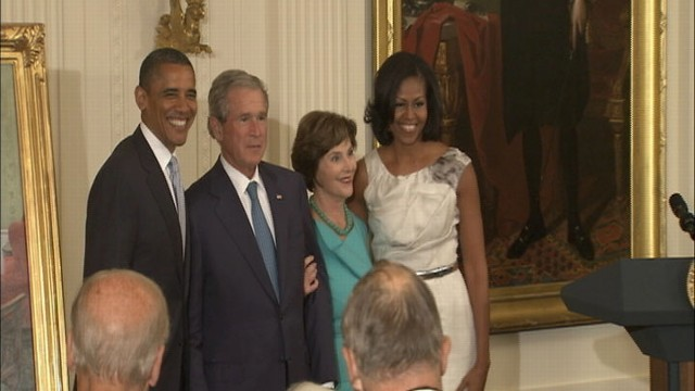 VIDEO: Obama Welcomes Bush Back to White House