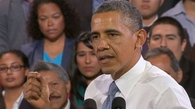 VIDEO: Heckler Behind Obama Steals Attention Away From President's Speech