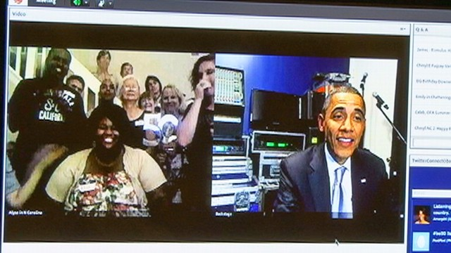 VIDEO: Obama Holds Birthday Video Teleconference