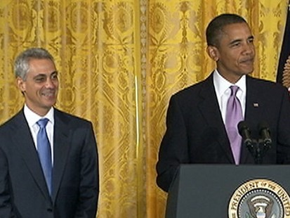 VIDEO: President Obama gets laughs for his comments about the departing Rahm Emanuel.