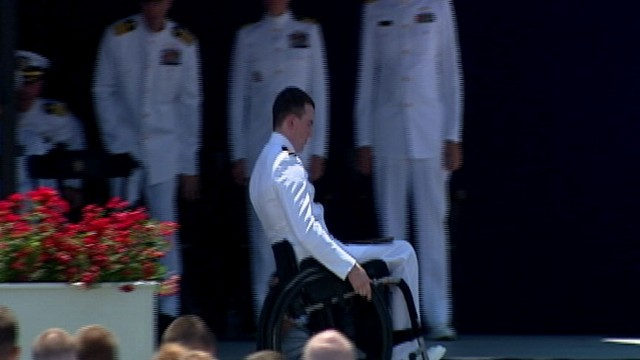 VIDEO: Naval Academy Graduates First Paraplegic