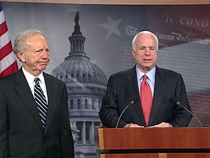 Photo: Senators Support Obama?s Decision on McChrystal: Graham, Lieberman and McCain praise Patraeus appointment, question pull out date.