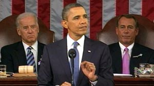 PHOTO President Barack Obama delivers the State of the Union address