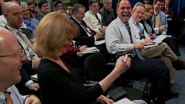 VIDEO: The ABC News correspondents ringtone sounded during a 2007 White House briefing.